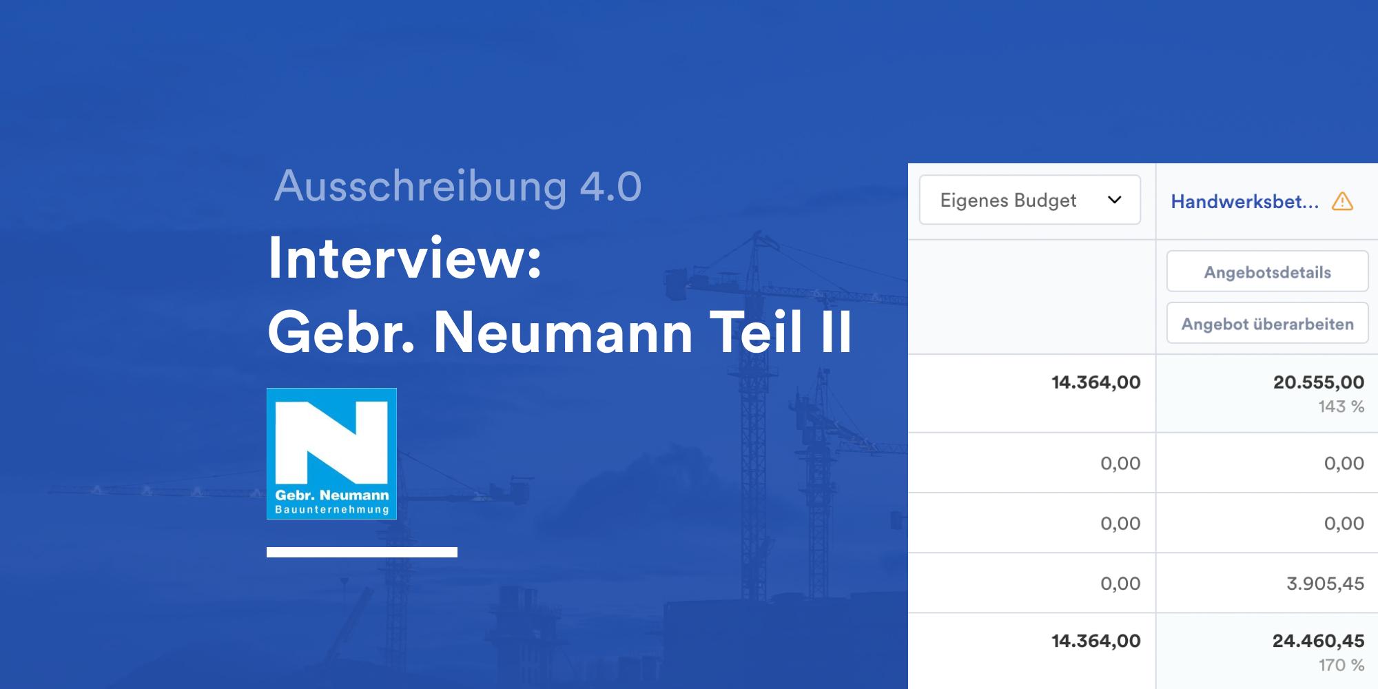 Gebr. Neumann Interview
