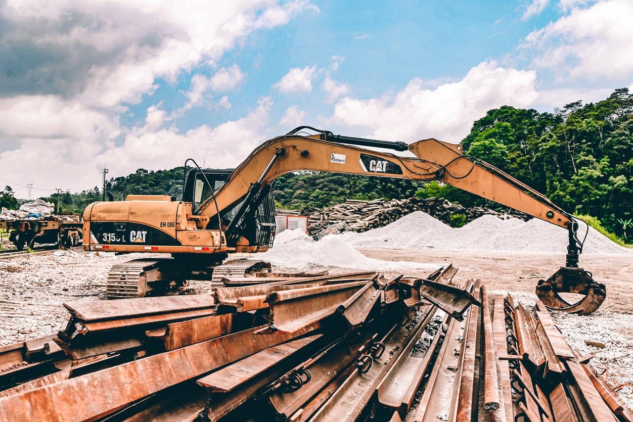 Rohstoffe auf Baustelle