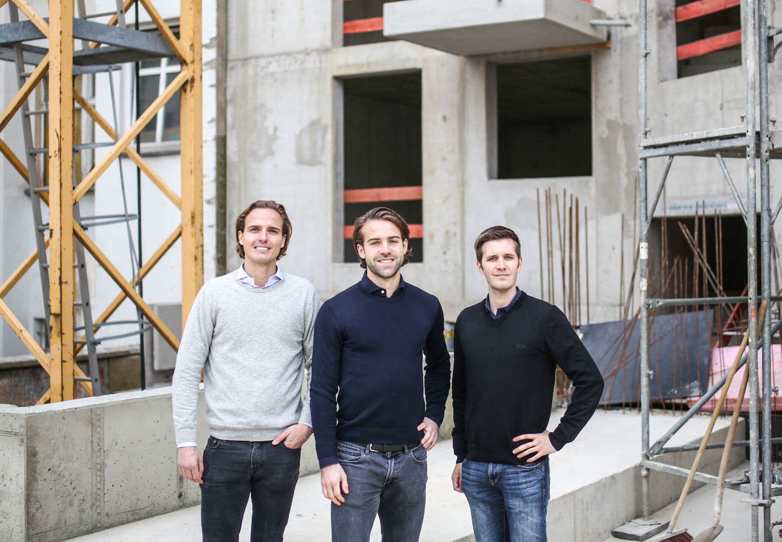 Gründerteam von Cosuno mit (v.l) Christoph Berner, Fritz Cramer und Maximilian Seifert