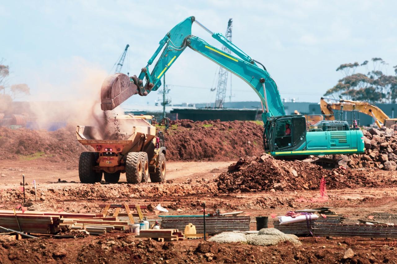 Baustelle, die von einer Bauzeitverlängerung betroffen ist