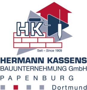 Das Logo der Hermann Kassens Bauunternehmung GmbH in Papenburg und Dortmund