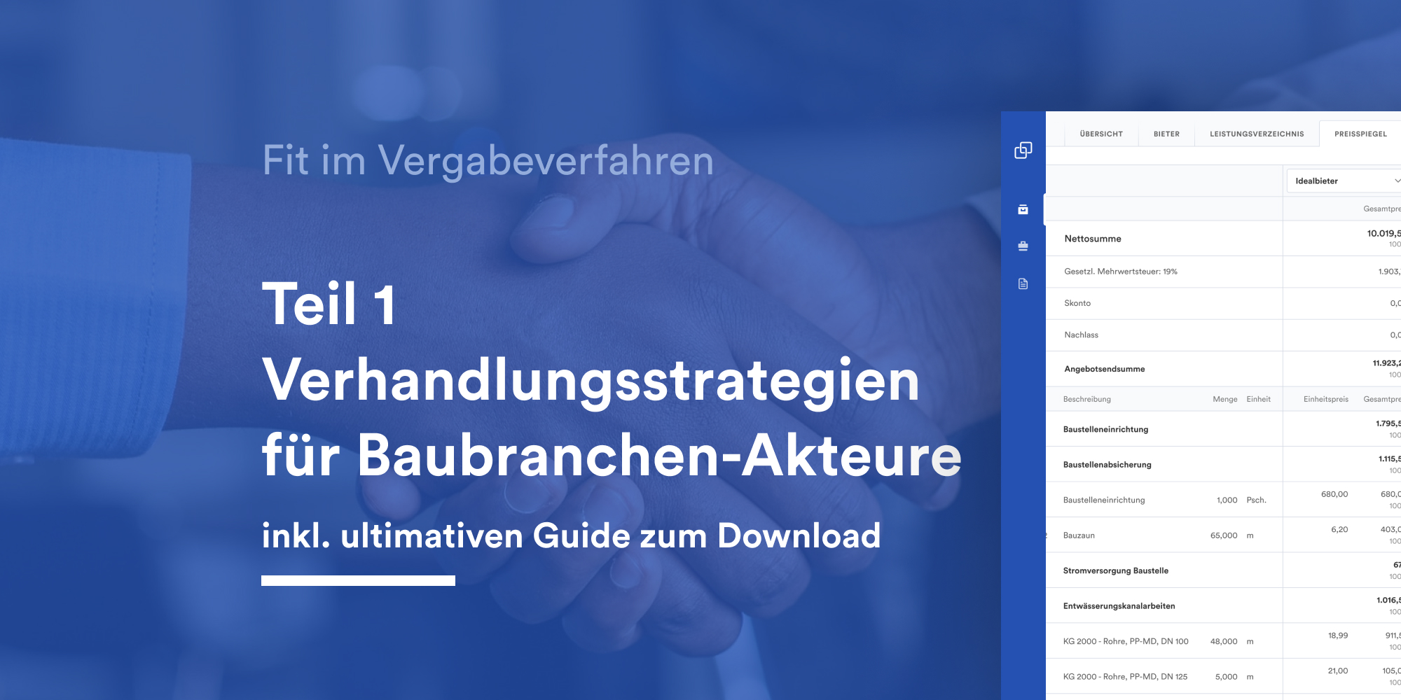 Verhandlungsstrategien für Baubranchen-Akteure inkl. ultimativen Guide zum Download