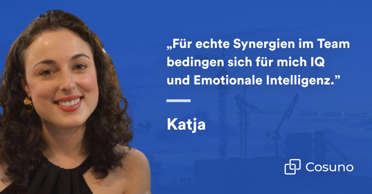 Zitat von Katja Elkhanova, Head of Growth bei Cosuno