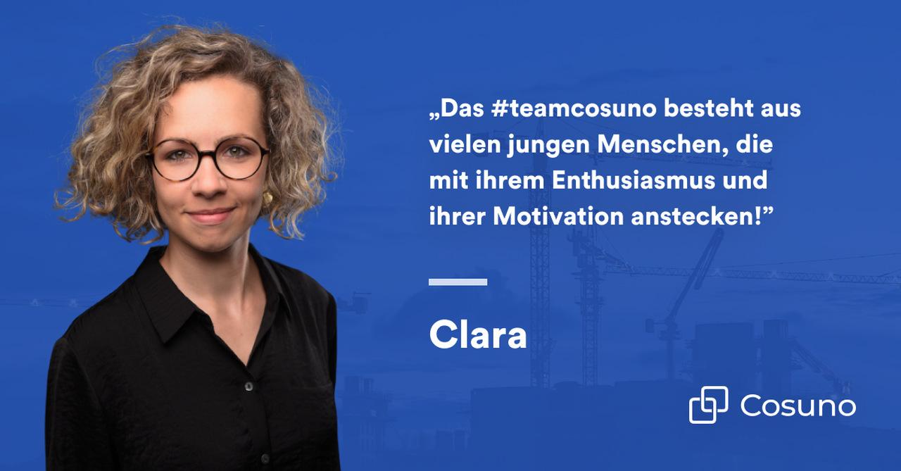 Zitat von Clara Lunow, Content Managerin bei Cosuno
