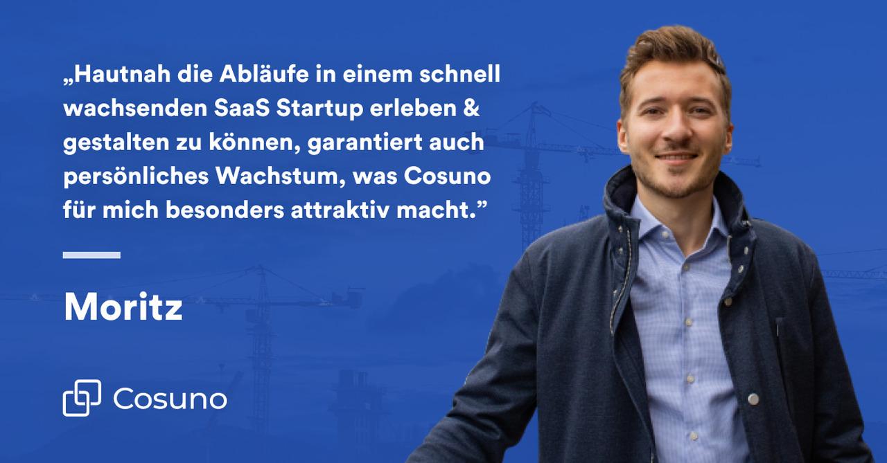 Zitat von Moritz Kuder, Growth Manager bei Cosuno