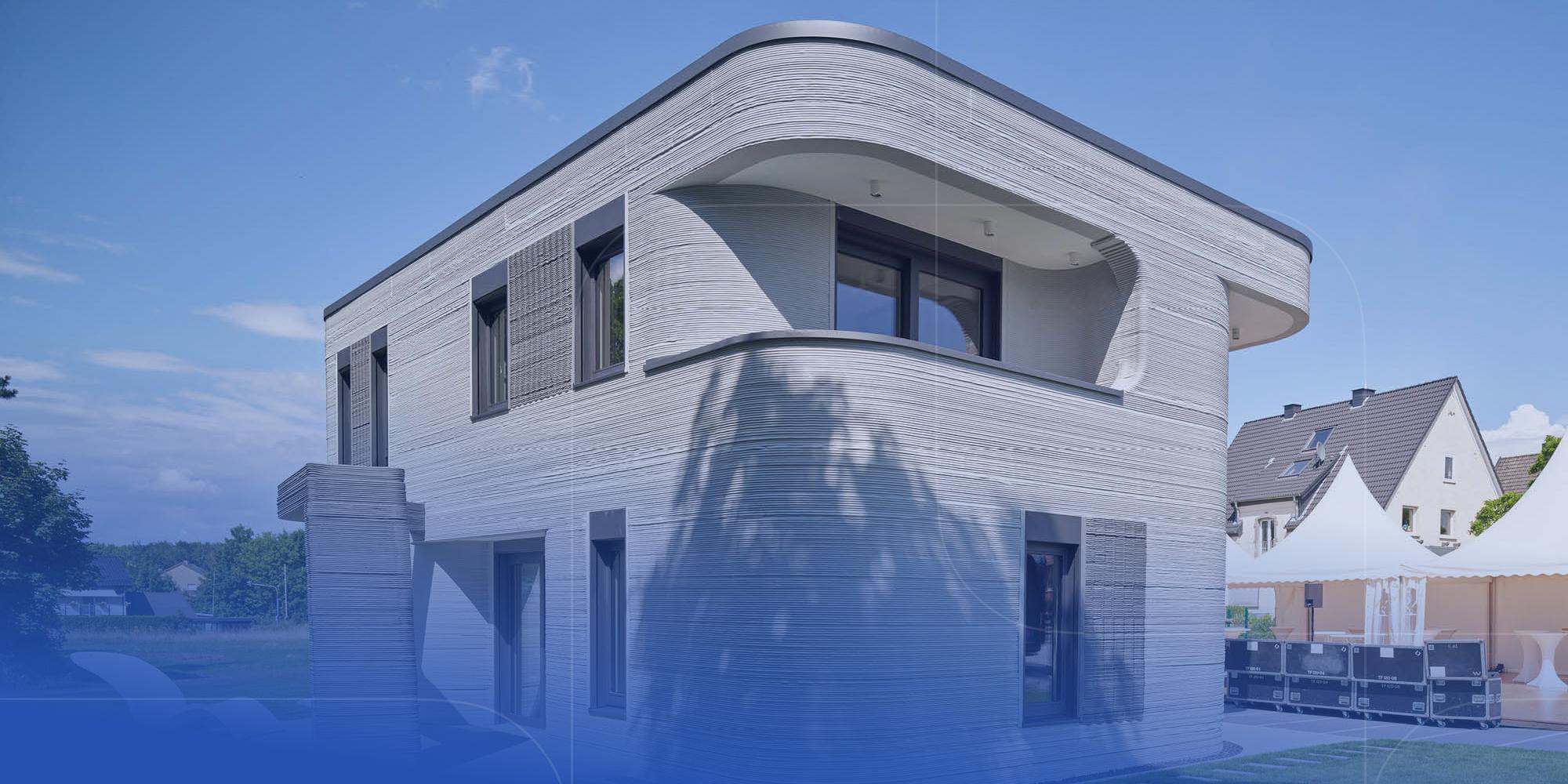 PERI druckt erstes Wohnhaus mit 3D-Betondrucker